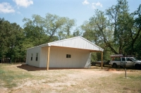 30x30x10, 10' extended roof line, roof, walls and trim frost white