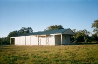 40x60x14, 2- 12' extended roof lines, 6' lean-to. lightstone walls, fern green roof and trim