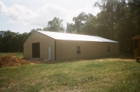 40x60x10, Saddle tan walls, white roof, Coco brown trim