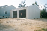 24x30x10, ash grey walls, white roof and trim